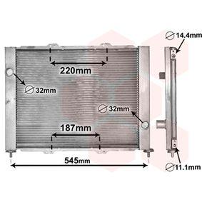 Radiateur, refroidissement du moteur 4300M388 à un rapport qualité-prix VAN WEZEL exceptionnel