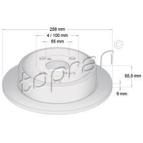 Brake Disc 600 604 TOPRAN Secure payment — only new parts