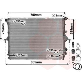 Radiatore, Raffreddamento motore VAN WEZEL 58002214 comprare e sostituisci