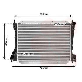 Radiatore, Raffreddamento motore VAN WEZEL 77002035 comprare e sostituisci