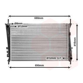 Radiatore, Raffreddamento motore VAN WEZEL 77002037 comprare e sostituisci
