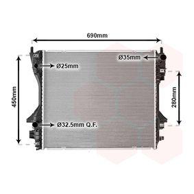 Radiatore, Raffreddamento motore VAN WEZEL 77002040 comprare e sostituisci