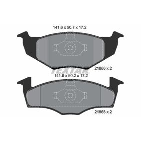 комплект спирачно феродо, дискови спирачки 2186602 за VW SPACEFOX на ниска цена — купете сега!