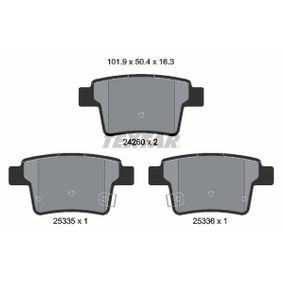комплект спирачно феродо, дискови спирачки 2426001 с добро TEXTAR съотношение цена-качество