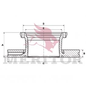 Disco de travão MBR9004 MERITOR Pagamento seguro — apenas peças novas