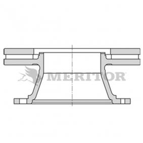 Disco de travão MBR6028 MERITOR Pagamento seguro — apenas peças novas
