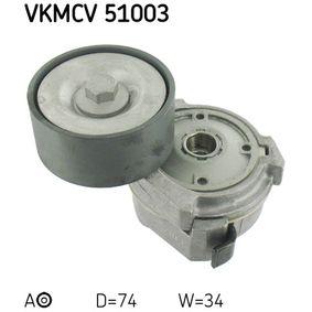 Buy SKF Tensioner Pulley, v-ribbed belt VKMCV 51003