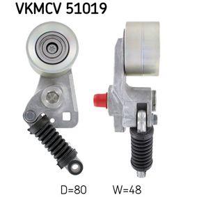 Buy SKF Tensioner Pulley, v-ribbed belt VKMCV 51019
