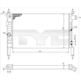 Radiatore, Raffreddamento motore 725-0018 con un ottimo rapporto TYC qualità/prezzo
