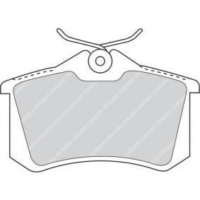 комплект спирачно феродо, дискови спирачки FQT1083 с добро FERODO съотношение цена-качество