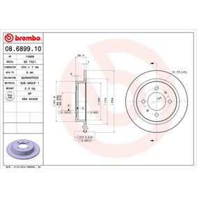 buy and replace Brake Disc BREMBO 08.6899.10