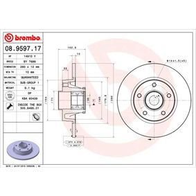 08.9597.17 Brake Disc BREMBO - Experience and discount prices