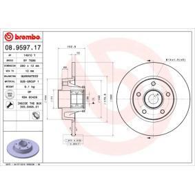 08.9597.17 Brzdový kotúč BREMBO - Lacné značkové produkty