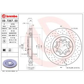 buy and replace Brake Disc BREMBO 09.7267.50