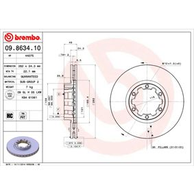 Buy BREMBO Brake Disc 09.8634.10