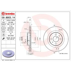 Brake Disc 09.8903.14 BREMBO Secure payment — only new parts