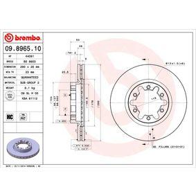 Compre BREMBO Disco de travão 09.8965.10