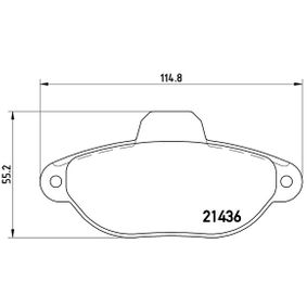 P 23 096 Bremsbelagsatz, Scheibenbremse BREMBO - Unsere Kunden empfehlen