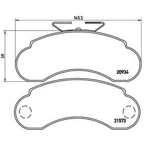 Achat de Kit de plaquettes de frein, frein à disque BREMBO P 50 021