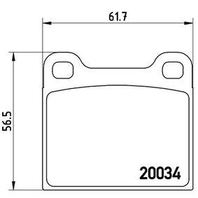 Bromsbeläggssats, skivbroms P 59 001 till rabatterat pris — köp nu!