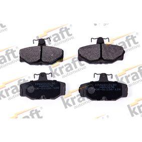 kjøpe KRAFT Bremsebelegg sett, skivebremse K6012130 når som helst