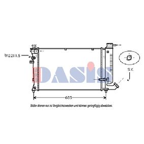 Radiatore, Raffreddamento motore AKS DASIS 060740N comprare e sostituisci