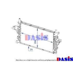 Radiatore, Raffreddamento motore AKS DASIS 121001N comprare e sostituisci