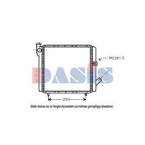 Radiatore, Raffreddamento motore AKS DASIS 180120N comprare e sostituisci