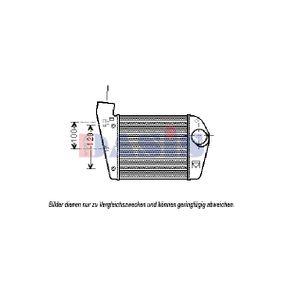 AKS DASIS интеркулер (охладител за въздуха на турбината) 487031N купете онлайн денонощно