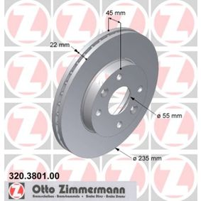 Brake Disc 320.3801.00 ZIMMERMANN Secure payment — only new parts