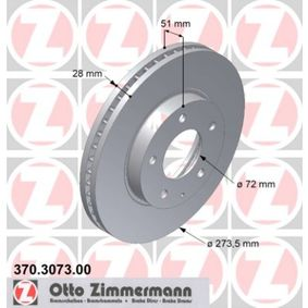 Brake Disc 370.3073.00 ZIMMERMANN Secure payment — only new parts