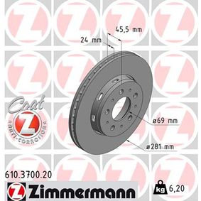 Brake Disc 610.3700.20 at a discount — buy now!