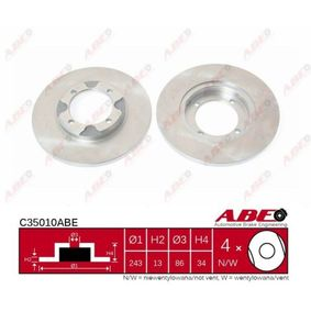 Brake Disc C35010ABE ABE Secure payment — only new parts