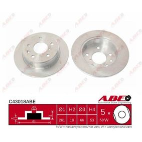 Brake Disc C43018ABE ABE Secure payment — only new parts
