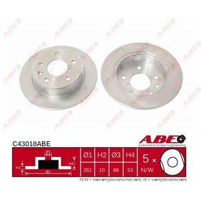 Compre e substitua Disco de travão ABE C43018ABE