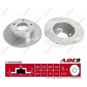 Brake Disc C4A003ABE with an exceptional ABE price-performance ratio