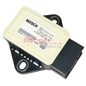 compre METZGER Sensor, aceleração longitudinal / lateral 0900578 a qualquer hora