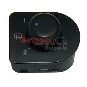 Αγοράστε METZGER Διακόπτης, ρύθμιση καθρέπτη 0916071 οποιαδήποτε στιγμή