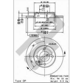 Bremsscheibe von METZGER - Artikelnummer: 10073