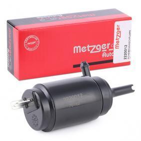 Pompa acqua lavaggio, Tergicristallo METZGER 2220012 comprare e sostituisci