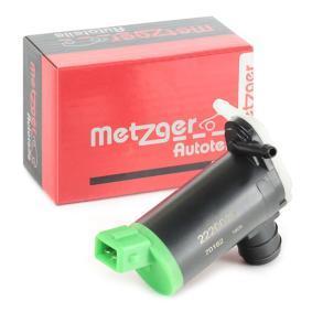 Bomba de água do lava-vidros 2220020 com uma excecional METZGER relação preço-desempenho