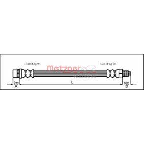 Flessibile del freno METZGER 4112798 comprare e sostituisci