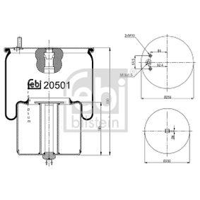 Cumpărați Burduf, suspensie pneumatica FEBI BILSTEIN 20501