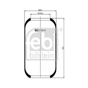 FEBI BILSTEIN Soffietto, Sospensione pneumatica 20644 acquista online 24/7