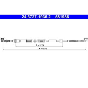 24.3727-2111.2 Handbremsseil Bremsseil Seilzug ATE