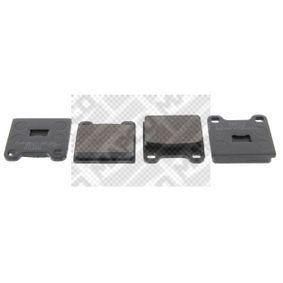 комплект спирачно феродо, дискови спирачки 6088 с добро MAPCO съотношение цена-качество