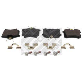 Bremsbelagsatz, Scheibenbremse MAPCO 6492 Pkw-ersatzteile für Autoreparatur