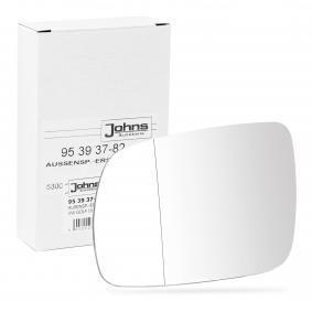 compre JOHNS Vidro de espelho, espelho retrovisor exterior 95 39 37-82 a qualquer hora