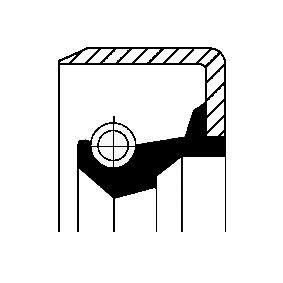compre CORTECO Retentor, cubo da roda 12011495B a qualquer hora