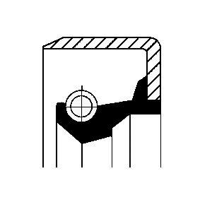 compre CORTECO Retentor, cubo da roda 12011499B a qualquer hora